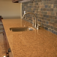 Giallo Antico Bar Top with built in sink