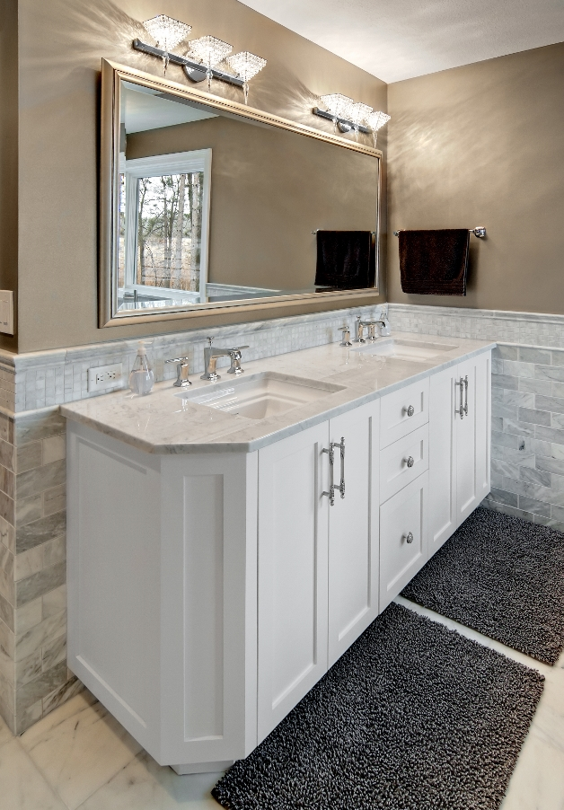 White Top Granite Bathroom Vanity