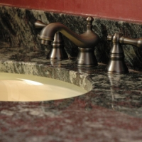 Granite Bathroom Vanity Maple