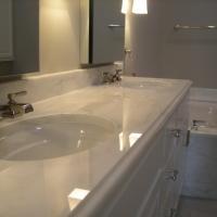 Double Sink Granite Bathroom Vanity