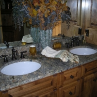 Two Sides Natural Stone Bathroom Vanity