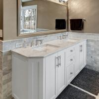 White Top Granite Bathroom Vanity