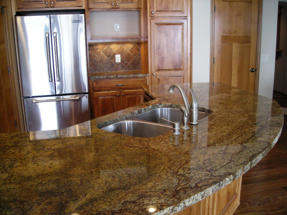 Brown Granite Kitchen Countertops : Natural stone kitchen countertops northstar granite tops