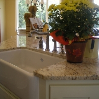 White Natural Stone Kitchen Countertop