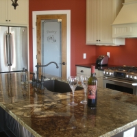 Multi-Color Granite Kitchen Countertop
