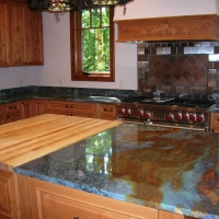 Van Gogh Island Kitchen Countertop