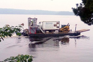 Granite Installation near Crane Lake
